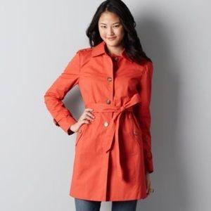 Loft orange trench coat